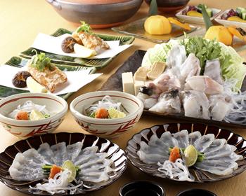 ふぐ 鍋刺しコース    7.900円(税別)