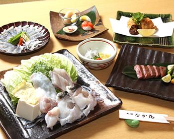 ふぐ 京都 牛ステーキ付 コース    9.500円(税別)